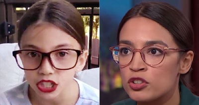 Family of Mini AOC, age 8, shuts down her social accounts after threats