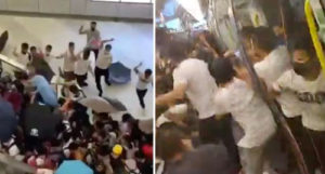 Mobs in white beat Hong Kong protesters as police stand down; Some seen arriving from China