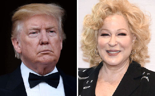 'Washed up psycho' Bette Midler wants Trump booted from Twitter