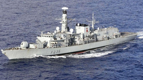 UK warship aimed guns at Iran ships challenging tanker