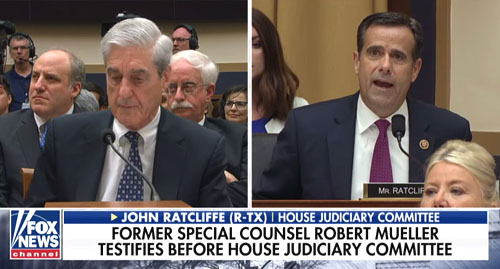 Mueller's day off: Congress members lecture him on basics of law; Was he on Xanax?
