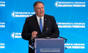 Pompeo: U.S. 'will be out front' defending 'right to worship'