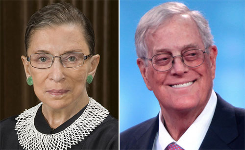 Perspective: Ruth Bader Ginsburg and haters of the late David Koch