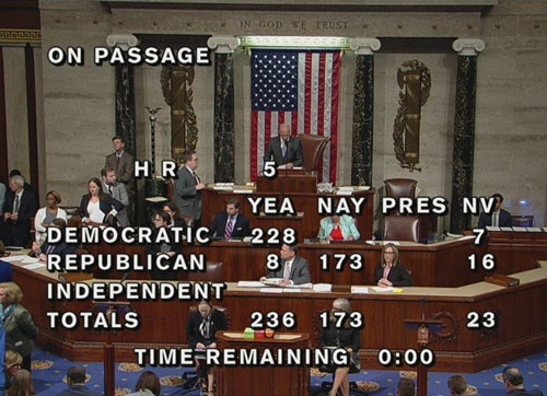 Equality Act passes House: All Democrats and 8 Republicans vote in favor