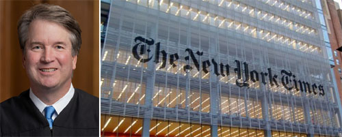 NY Times issues humiliating correction on 'bombshell' Kavanaugh report