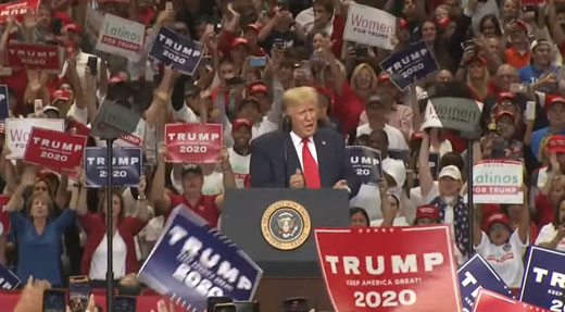 Fired-up Trump in Dallas hails 'tough love' with Turkey, mocks 'crazy' Pelosi