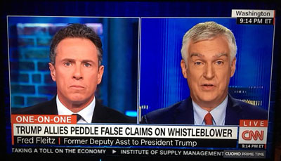 Fleitz among first to smell a rat on Ukraine story; He was right, CNN was wrong