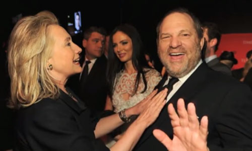 'Predators are her style': McGowan rips Hillary Clinton's support of Weinstein