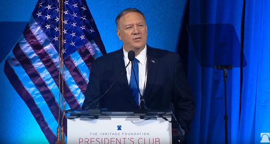 Pompeo at Heritage: 'My responsibility is to help countries see the world for what it is'
