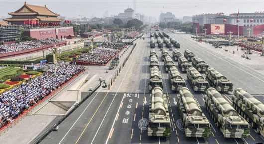China's massive Oct. 1 parade appeared geared for Taiwan action