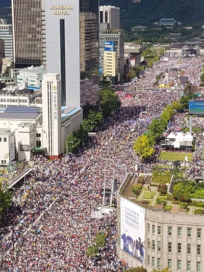 Impeachment East: Millions in Seoul demand ouster of leftist president, justice minister