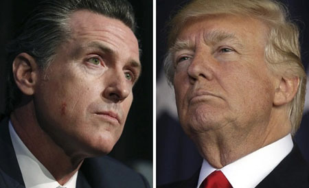 California governor preaches to Trump: Get right with climate change