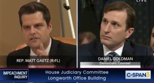Rep. Gaetz dismantles Democrat counsel's claim of being 'non-partisan'