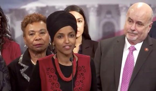 Ilhan Omar giggles during talk of American war dead