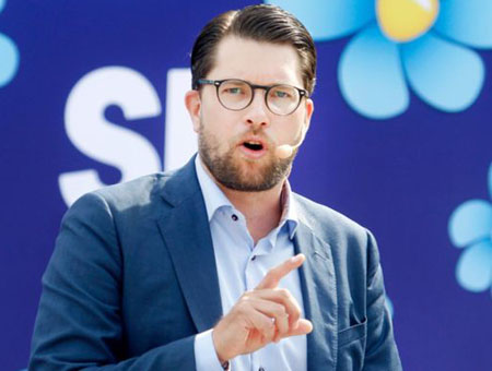 Sweden populist leader reported to cops for handing out 'Sweden is Full' flyers in Turkey