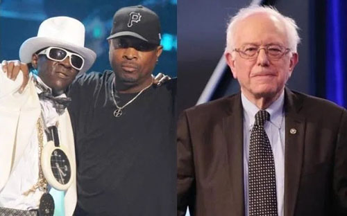 Did Bernie break up legendary hip hop group Public Enemy?