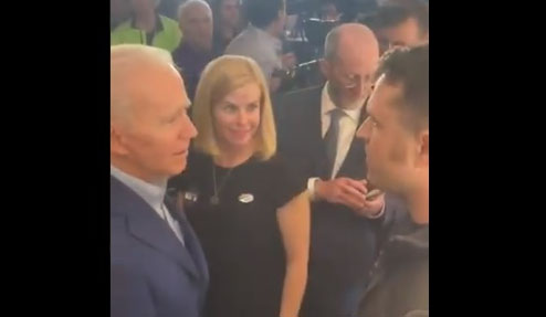 'You are disqualified, sir': Air Force veteran confronts Biden
