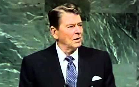 Reagan: 'Our differences worldwide would vanish' if all faced an alien threat
