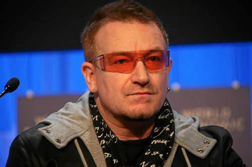 U2's Bono: Beautiful day to advocate for the globalist culture of death