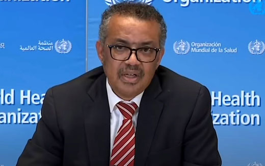 Who is WHO's director general Tedros Adhanom Ghebreyesus?