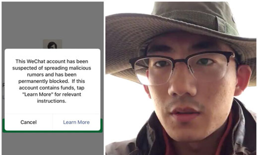 Student does his homework, calls for CCP to relinquish power, disappears