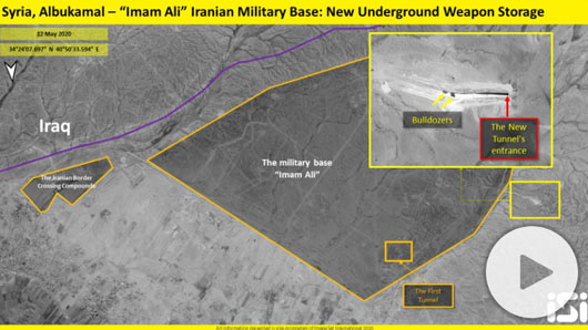 Satellite images reveal Iran tunnel at Syrian base as Israeli strikes take toll