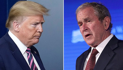 Trump blasts George W. Bush's plea for bipartisanship amid pandemic
