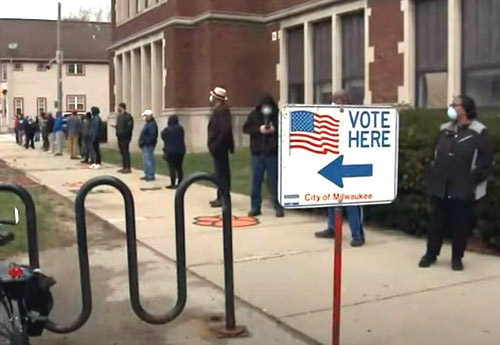 Data from Wisconsin primary fails to support claim that vote-by-mail necessary