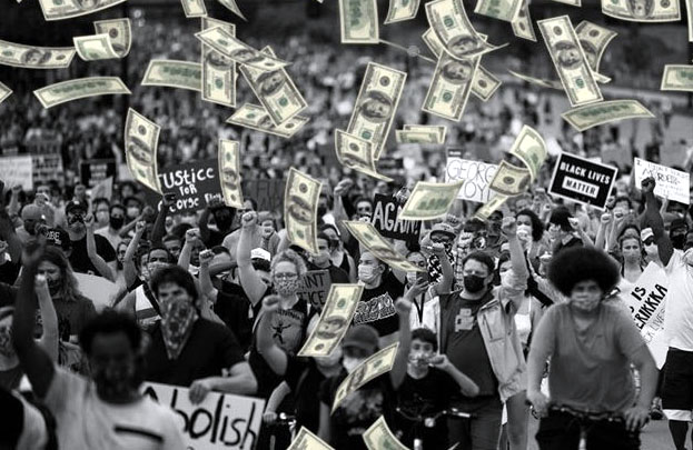 Corporations line up for social justice, cash in hand