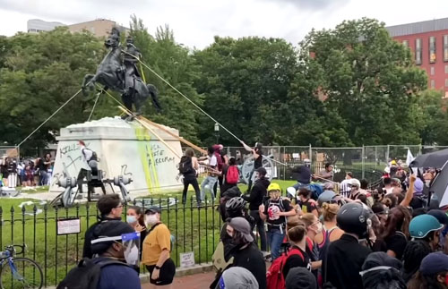 Charges brought after effort to topple Andrew Jackson statue