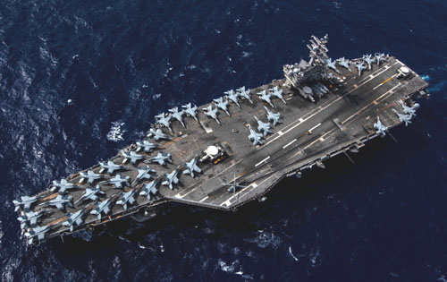 In warning to China, U.S. deploys three carrier groups simultaneously in the Pacific