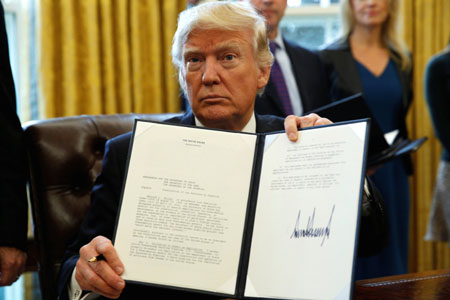 President Trump issues flurry of executive orders