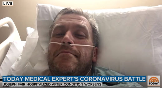 Fake: Contributor used by NBC to show seriousness of coronavirus — never tested positive