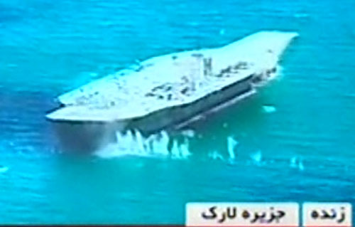 Iran blocks own port after sinking mock U.S. carrier during exercise