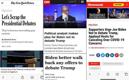 Biden's media allies explain why he should duck debates: It's Trump's fault