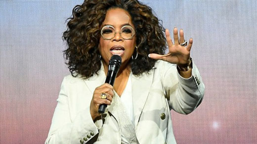 Oprah, American billionaire, lectures white Americans on their privilege