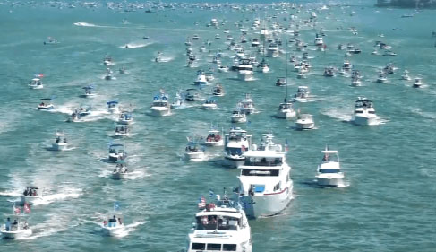 Unreported: 1,600-boat parade in support of Trump broke record