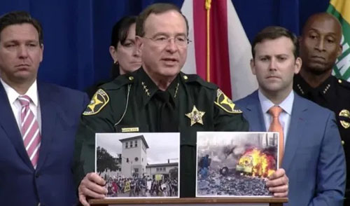 Florida sheriff educates media on difference between protests and riots