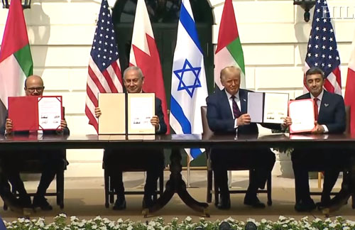 'Not a single question': Media ignores Trump's historic Mideast peace deal