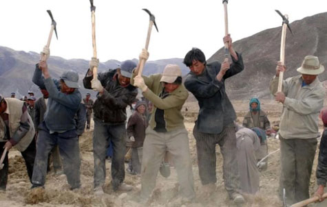 China said forcing hundreds of thousands of Tibetans into labor camps
