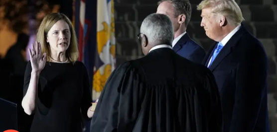 Democrats' mail vote strategy in jeopardy as ACB sworn in as Supreme Court justice
