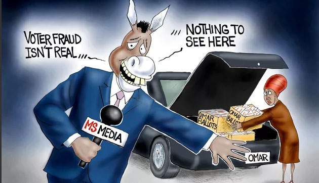 Count on the Democrat media to count the votes