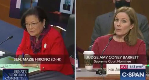 'Sexual preference'? Merriam-Webster changes definition after Hirono scolded Barrett about term used by Biden, Ginsburg