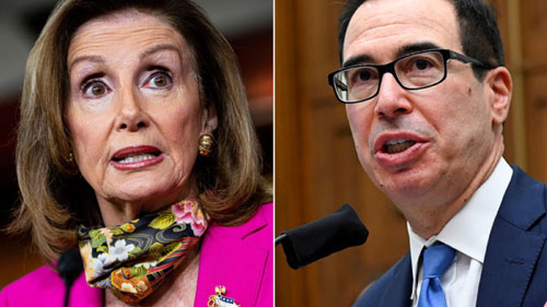 Mnuchin charges Pelosi blocking covid stimulus to avoid giving Trump a win