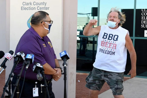 The shirt says it all: 'BBQ, Beer, Freedom' man goes viral