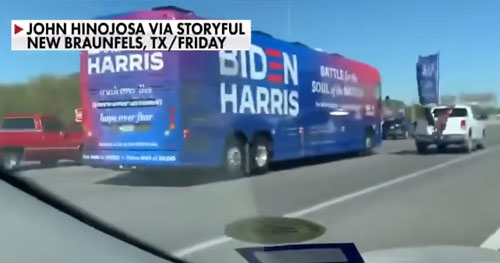 Biden staffer may have been 'at fault' in campaign bus highway incident in Texas, police say
