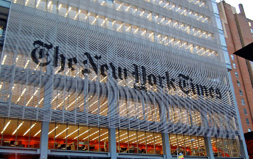 At the NY Times, staring at its navel has driven the newspaper of record insane