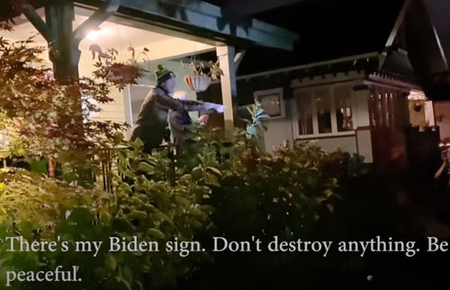 Biden backer gets a quick taste of what he voted for