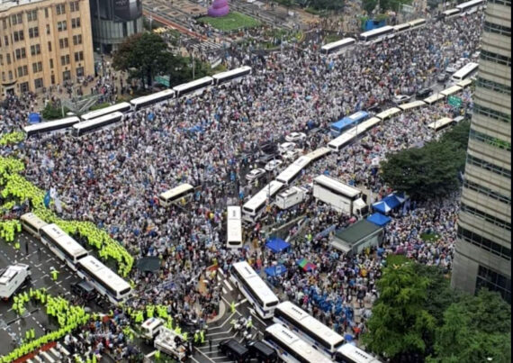 GREATEST HITS, 7: Angry conservative demonstrators in Seoul manhandle police