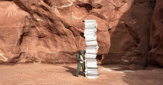 New monolith mystery: Towering stack of Trump ballots spotted in Utah desert